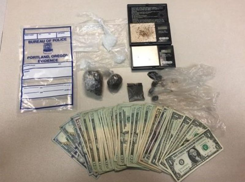 PORTLAND POLICE BUREAU - Evidence recovered from Clackamas Town Center arrests.