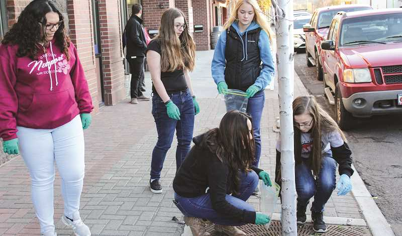 CENTRAL OREGONIAN - Local teens have gotten involved in slowing tobacco use in Crook County, including participation in a cigarette butt cleanup downtown.