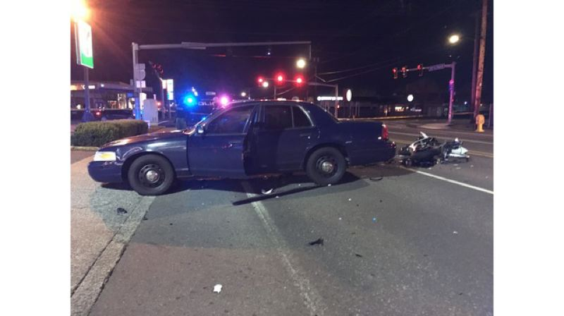 COURTESY PHOTO: KOIN 6 - A motorcyclist was killed in Gresham, March 16 2019.