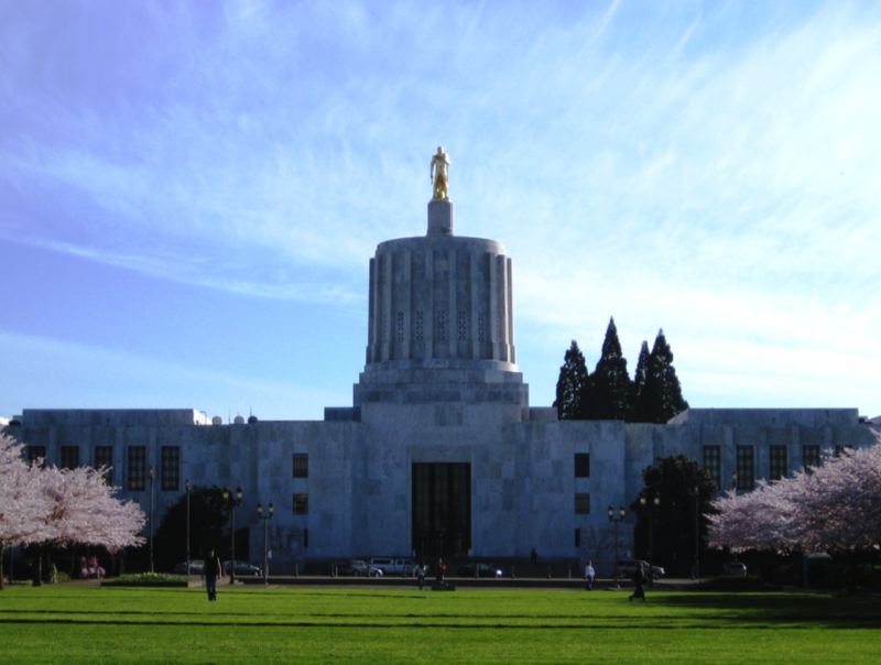 WIKIPEDIA PHOTO - The Oregon State Capitol is shown here.