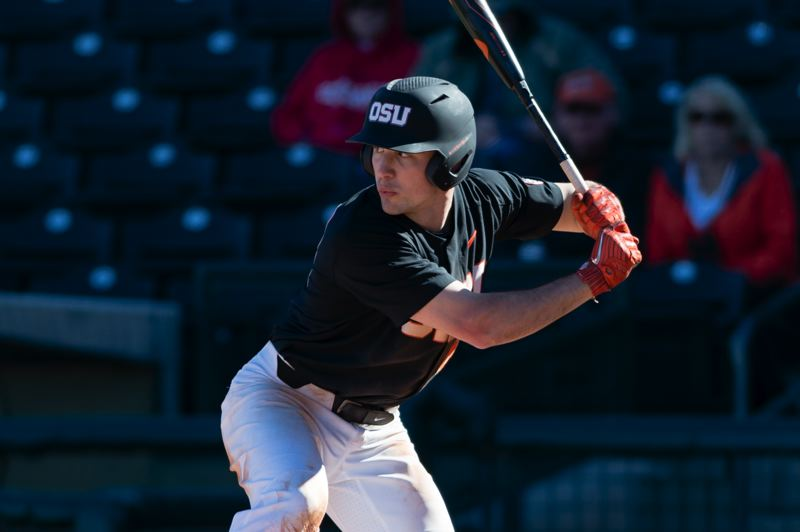 COURTESY PHOTO: OREGON STATE UNIVERSITY - Alex McGarry from Columbia River High in Vancouver, Washington, has been one of Oregon State's top producers at the plate this season.