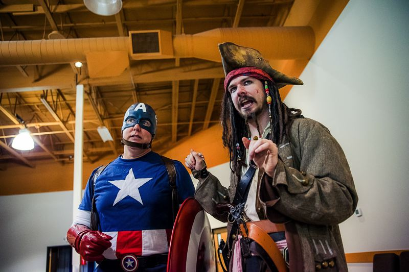 COURTESY PHOTO: EASTSIDE THEATER COMPANY - Captain America and Captain Hook are among the whimsical icons youll encounter at the second-annual Character Cafe held Saturday, April 13, at Springwater Church.
