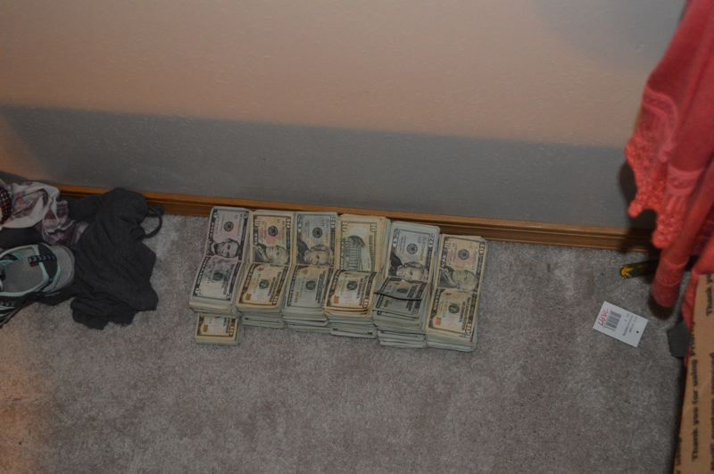 PHOTO - Cash found in DeMille's bedroom.