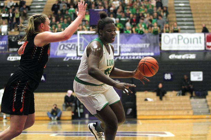 PMG PHOTO: MILES VANCE - West Linn sophomore post Aaronette Vonleh made her second high school season a keeper, winning a spot on the all-Three Rivers League first team this season.
