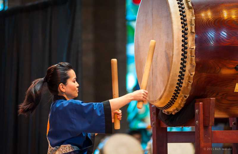 COURTESY PHOTO: PORTLAND TAIKO - Kelsey Furuta joined Portland Taiko after watching them as a teenager and performs, teaches and serves as performance coordinator.