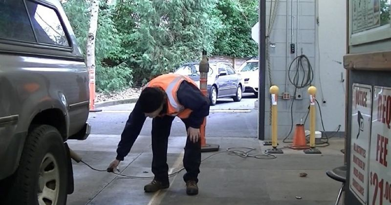 KOIN 6 NEWS - A vehicle getting an emissions test in the Portland area.