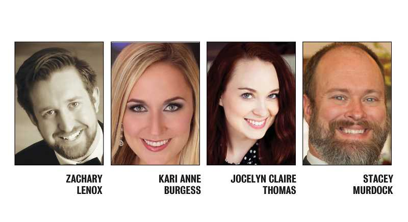 SUBMITTED PHOTOS - Zachary Lenox, Kari Anne Burgess, Jocelyn Claire Thomas and Stacy Murdock, of OperaBend, will be performing 'Don Giovanni' at 3 p.m. April 7, at the PAC.
