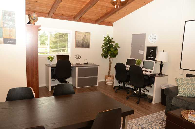 The center has a resource center with three workstations where families can conduct job searches and sign up for resources to help them secure sustainable housing.
