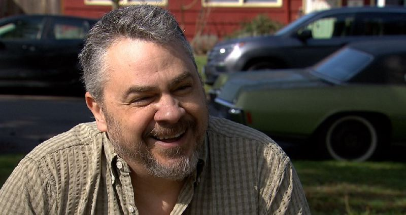 COURTESY PHOTO: KOIN 6 NEWS - Activist Jeff Thomas Black told KOIN 6 News that he planned to take Goldschmidt's portrait for many months.