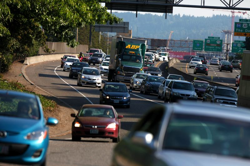 PMG FILE PHOTO - Increased traffic on Interstate 5 could contribute to unhealthy air around Harriet Tubman Middle School, leading to a feud between Portland Public Schools and the Oregon Department of Transportation.