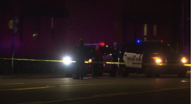 KOIN 6 NEWS IMAGE - A woman was injured when she was hit by a car on NE 122nd Avenue and Multnomah Street on March 29.