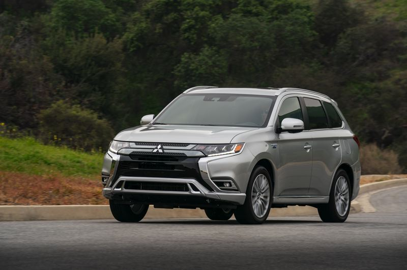 COURTESY MITSUBISHI - The Mitsubishi Outlander has been restyled for 2019, and the plug-in hybrid version is ideal of environmentally-minded Pacific Northwest families.
