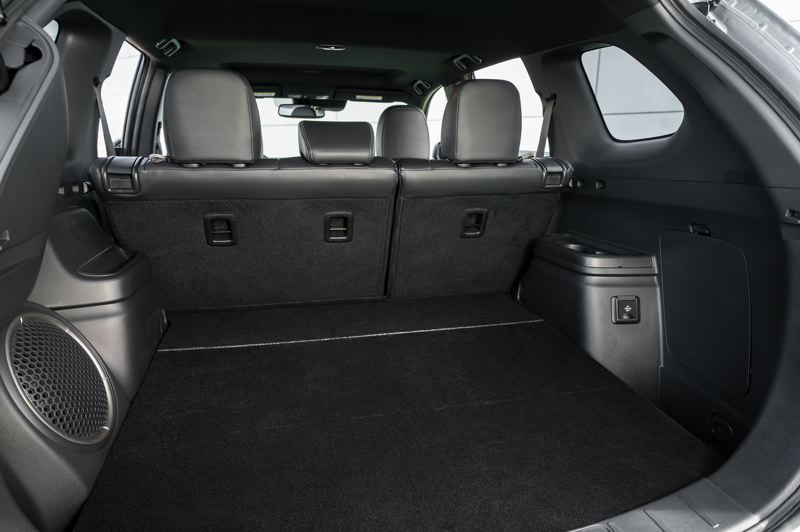 COURTESY MITSUBISHI - There is extra cargo room under the hatch of the 2019 Outlander PHEV, but those who need a third row of seats have to buy a gas version.