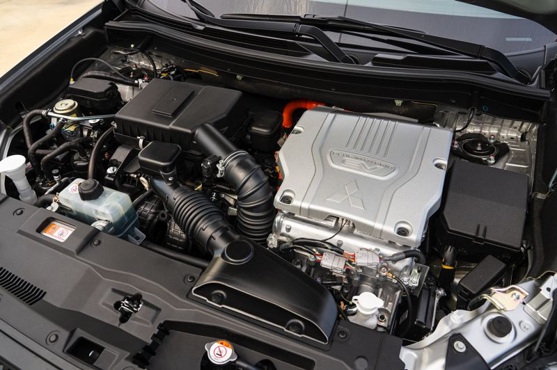 COURTESY MITSUBISHI - The secret of the success of the 2019 Outlander PHEV is the combination of two electric motors and a 2.0-liter inline four cylinder engine.