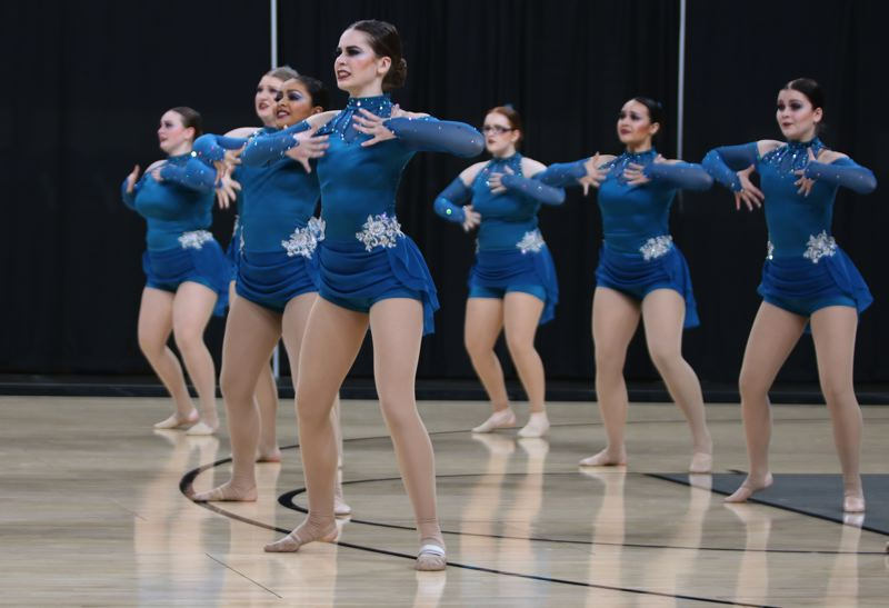 PMG PHOTO: JIM BESEDA - Milwaukie's Pony Prancers placed fifth in the 5A division after scoring78.02 for their 'Still Standing' routine at the OSAA Dance/Drill state championships at Veterans Memorial Coliseum.