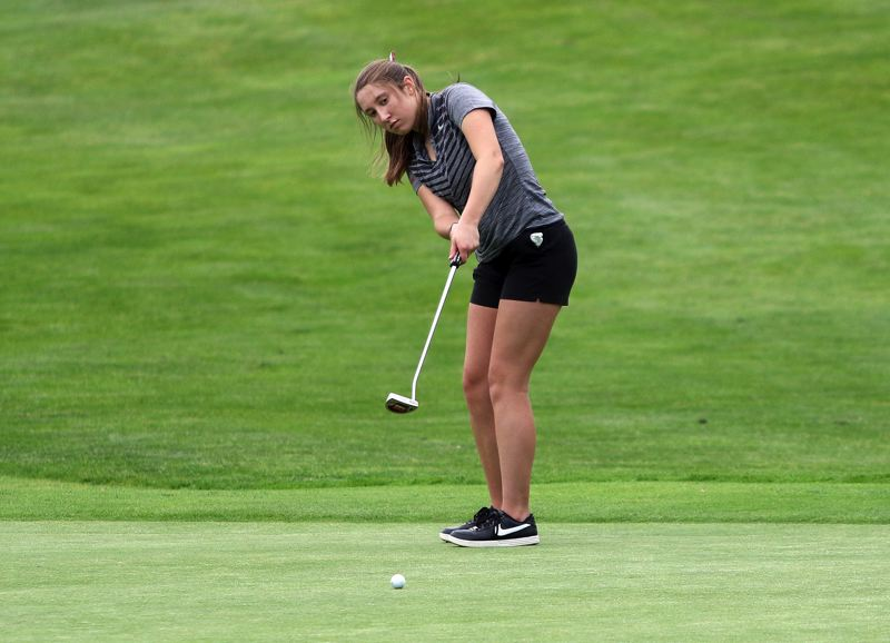 PMG FILE PHOTO: DAN BROOD - Sherwood High School junior Ally Plusquellec has played in the Class 6A girls golf state tournament the past two years.