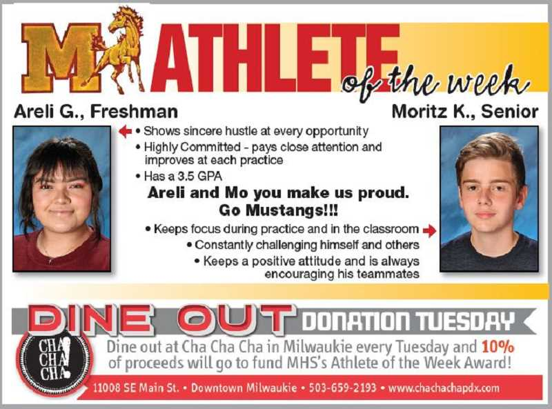 (Image is Clickable Link) MILWAUKIE HS ATHLETES OF THE WEEK - Milwaukie HS Athletes of the Week 4.3