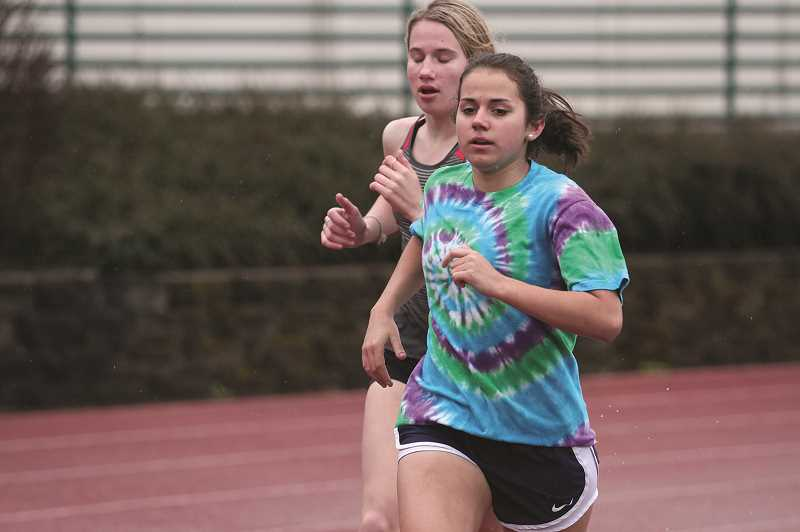 PMG PHOTO: PHIL HAWKINS - Kennedy senior Alejandra Lopez is looking to make a run at a state title in either the 1,500 or 3,000 events after placing second in both at the state meet last year.