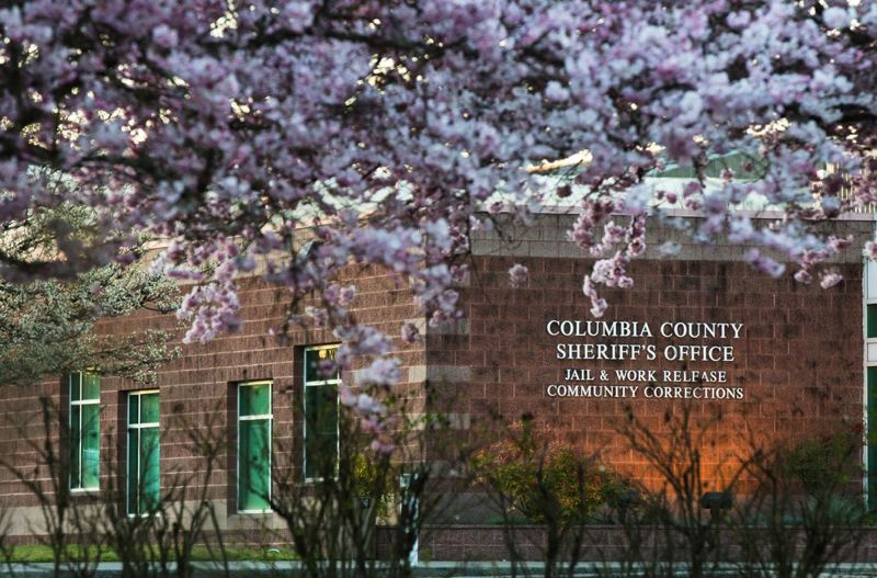 OPB PHOTO - The Columbia County Jail is pictured Saturday, March 30, 2019, in St. Helens, Ore.