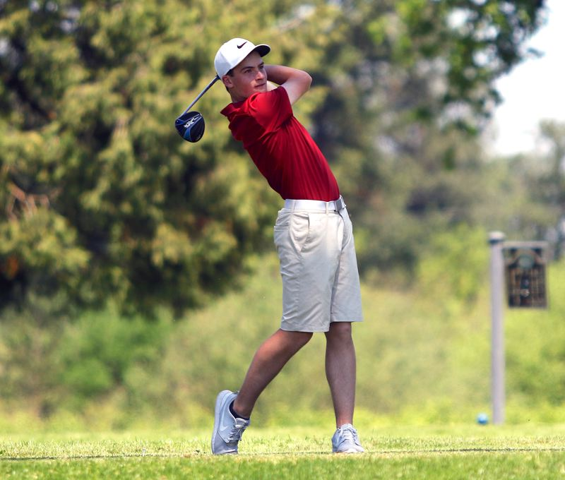 PMG FILE PHOTO: DAN BROOD - Sherwood junior Mason Bonn, shown here at last year's Class 6A state tournament, and the Bowmen are aiming for a trip to this year's state event.