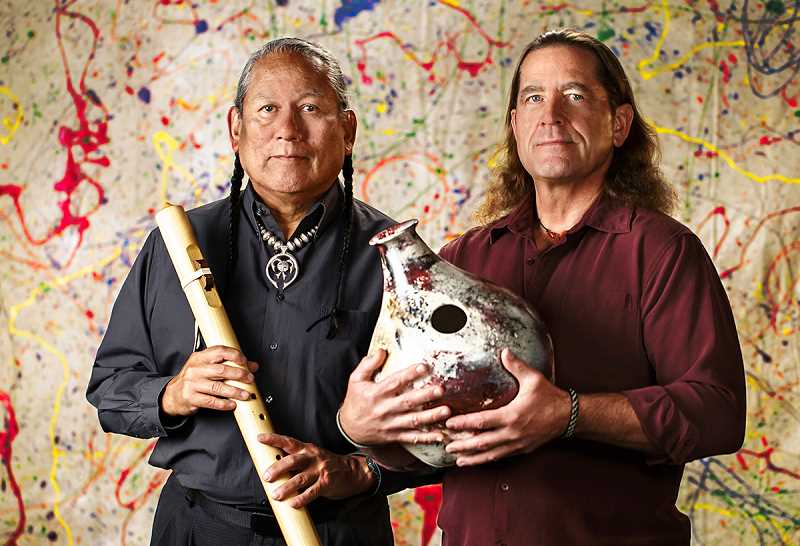 COURTESY PHOTO: PACIFIC UNIVERSITY  - R. Carlos Nakai, left, is the world's premier performer in Native American flute, and will perform at Pacific University on Saturday, April 6.