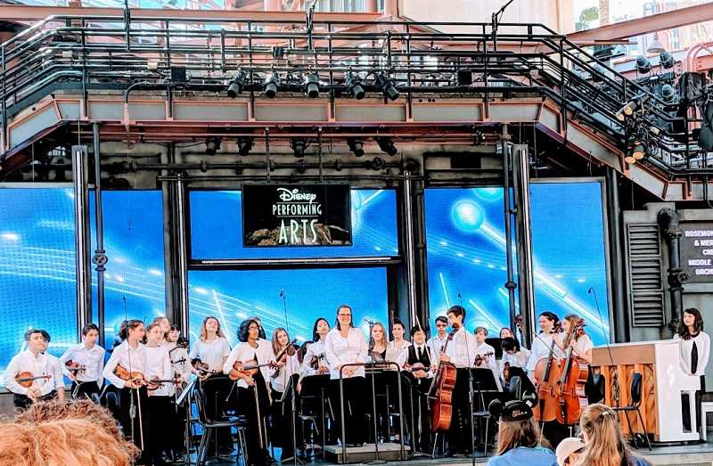 COURTESY PHOTO - The Meridian Creek and Rosemont Ridge orchestras perform on stage at Disneyland Resort.