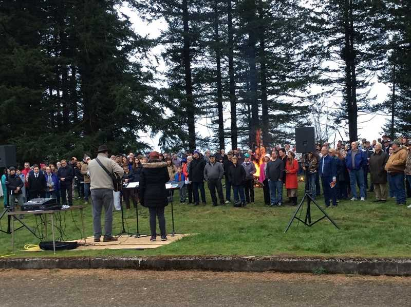 COURTESY PHOTO - For more than 70 years, Christians have gathered at Bald Peak on Easter Sunday for a sunrise service. This year's service is set for April 21, at 7 a.m.