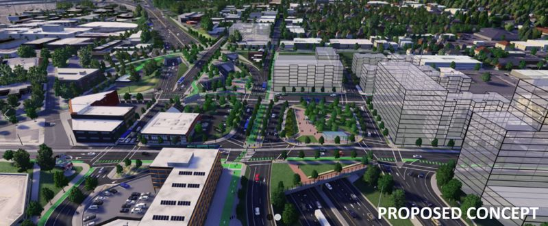 COURTESY ODOT - ODOT plans to cap portions of Interstate 5 in Portland's Rose Quarter as part of a project that also adds a third lane in both directions to a narrow stretch of the highway.