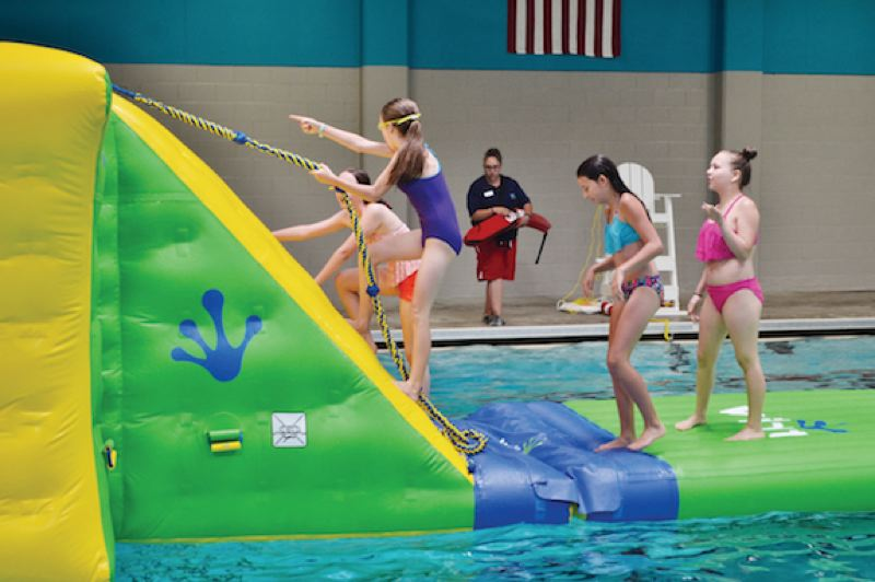 PMG FILE PHOTO: BRITTANY ALLEN  - The Olin Y. Bignall Aquatic Center reopened in July 2018 after a series of renovations, but will close again June 1 of this year — with no reopening date in sight — amid a funding crisis faced by the city of Sandy.