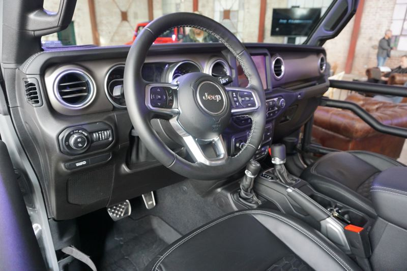 PORTLAND TRIBUNE: JEFF ZURSCHMEIDE - The interior of the Jeep Gladitor is roomy, comfortable and can be ordered with just about every automotive technology.