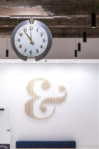 PMG FILE PHOTO - An original clock and Meier and Frank symbol in the renovated first floor lobby could go on daylight saving time permanently if Oregon lawmakers agree with the plan.