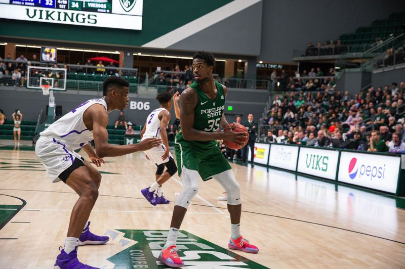 PMG PHOTO: ADAM WICKHAM - Sal Nuhu emerged this season as a key player for the Portland State Vikings.