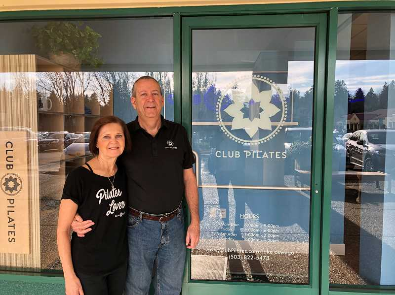PMG PHOTO: BARB RANDALL  - Club Pilates Lake Oswego owners Dan and Debbie Wynkoop invite all to attend the grand opening at their new Pilates Reformer studio in Oswego Town Square.