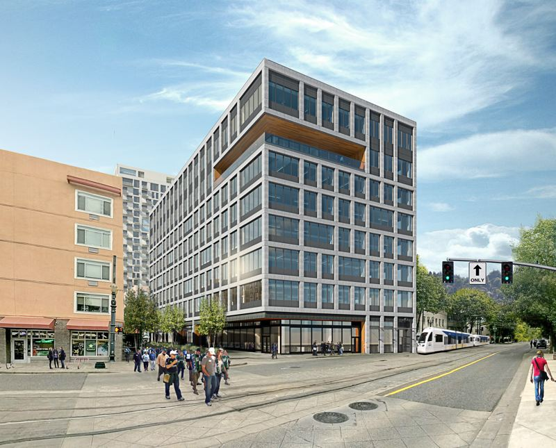 COURTESY: JLL - When completed, Canvas@Press Blocks will have 140,000 square feet of customizable office and retail space with exposed ceilings and open floor plans. It will also have a rooftop deck, an indoor conference and events space, and will be served by two light rail lines.