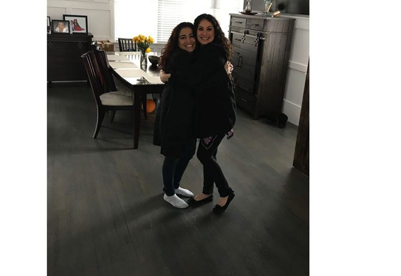 SUBMITTED PHOTO - Aleta Brady, right, hugs her Aunt Iffath. Family friends have said the two look like twins.