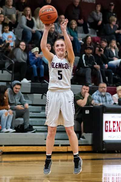 PMG PHOTO: CHRISTOPHER OERTELL - Glencoe's Morgan DeBord during a game this past season. DeBord was a Oregon 6A All-State Second Team honoree.