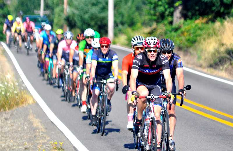 PMG FILE PHOTO - Salmon Cycling Classic, a long-distance bike event launched last year, received a funding boost from the City of Wilsonville and the county this spring.