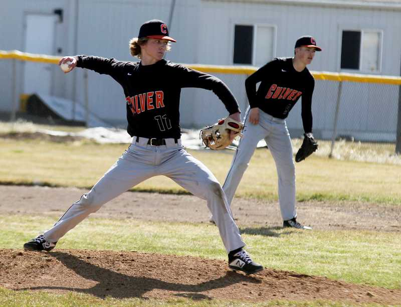 STEELE HAUGEN - Tadd Anderson pitched all eight innings during the Bulldogs' 8-4 victory over Western Christian April 5. He recorded a total of 10 strikeouts, throwing 104 pitches.