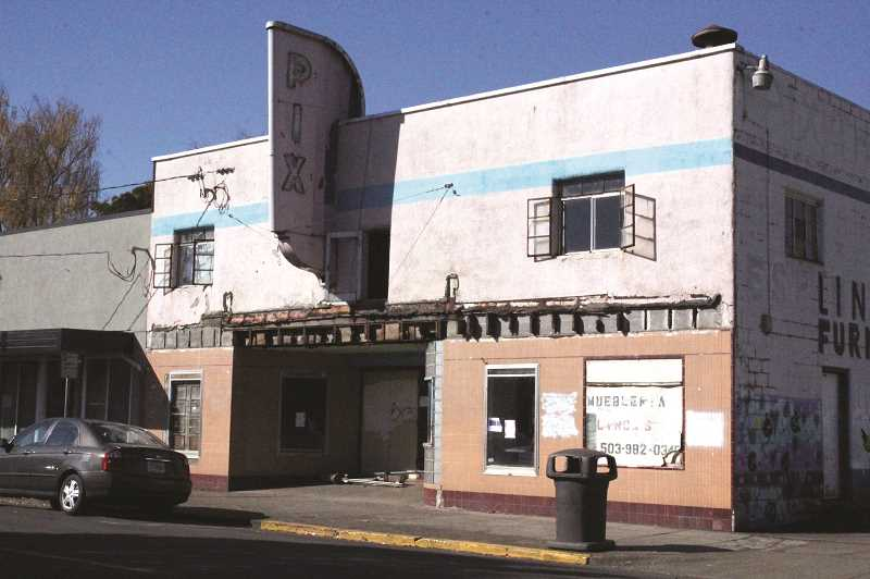 WOODBURN INDEPENDENT FILE PHOTO - Woodburns former Pix Theater, which originally opened in 1948, is scheduled to be razed as part of the First Street Improvement project.