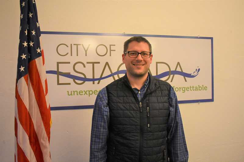 PMG PHOTO: EMILY LINDSTRAND - Eric Hall was appointed to the Estacada City Council on Monday, April 8.