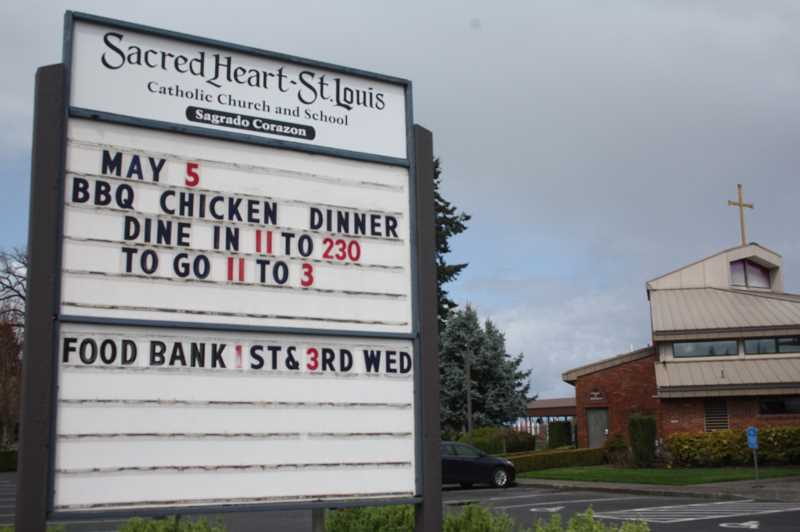 PMG PHOTO: JUSTIN MUCH - Sacred Heart sets date for semiannual barbecue chicken dinner.