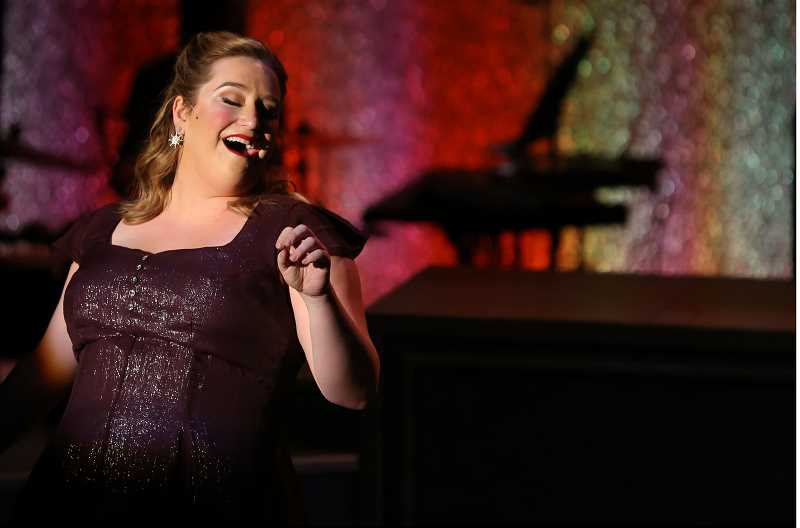 COURTESY PHOTO: BROADWAY ROSE - Caitlin Brooke performs in 'A Grand Night for Singing,' Broadway Rose's newest production on stage.
