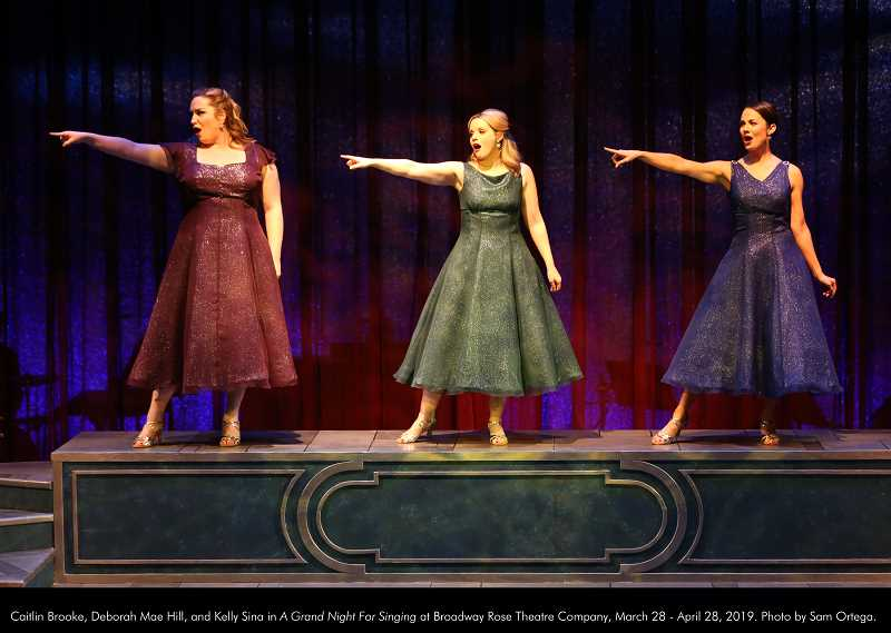 COURTESY PHOTO: BROADWAY ROSE - Caitlin Brooke, Deborah Mae Hill and Kelly Sina star in 'A Grand Night for Singing,' a collection of songs by Richard Rodgers and Oscar Hammerstein II.