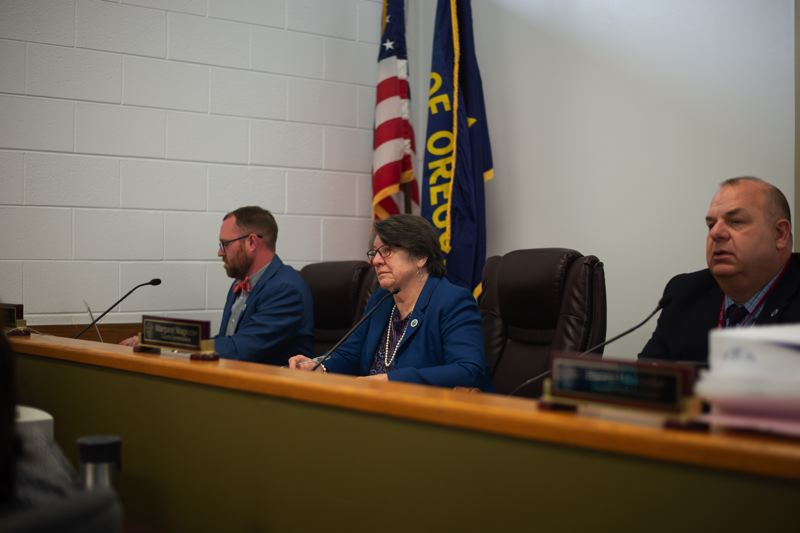 PMG PHOTO: ANNA DEL SAVIO - Columbia County Commissioner Alex Tardif, left, has been a key advocate for a proposed youth drop-in center in St. Helens.