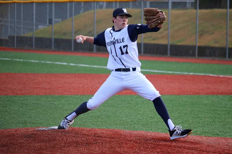 PMG PHOTO: JIM BESEDA - Wilsonville junior pitcher Keegan Shivers.