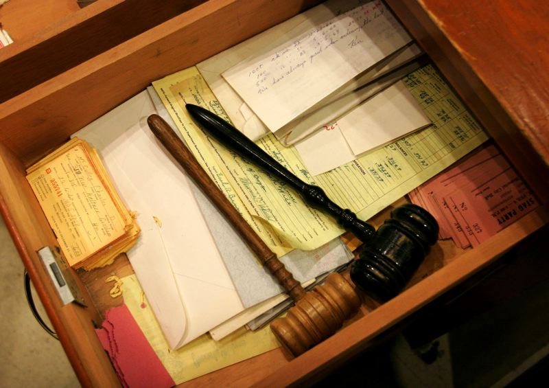 FILE PHOTO - A gavel inside an Oregon courtroom.