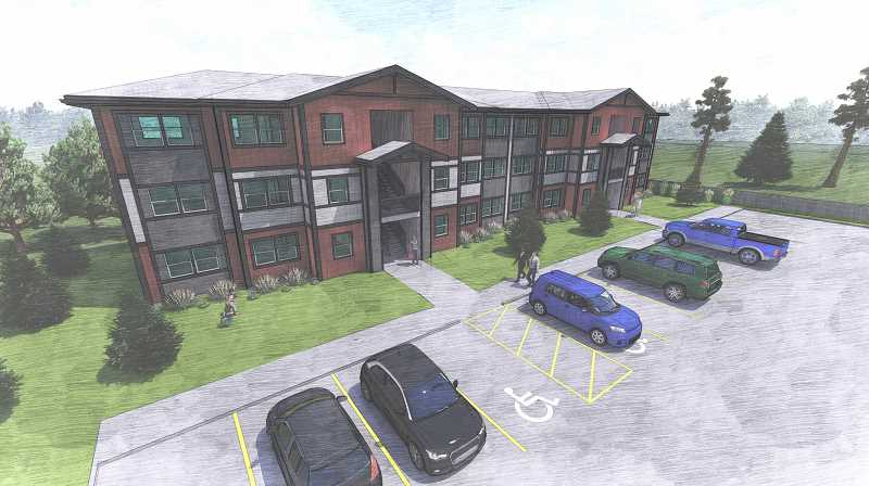 SUBMITTED ILLUSTRATION - Housing Works was recently awarded funding to build a new community of 23 two-bedroom apartments in Madras. The apartments will be located on 1.27 acres, adjacent to Canyon East. The community is expected to be completed by fall of 2020.