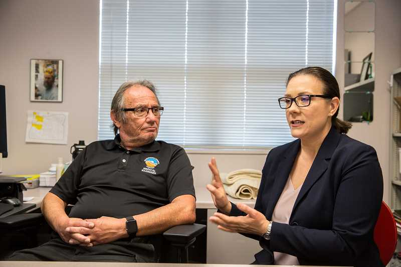 COURTESY PHOTO: JASON E. KAPLAN, STREET ROOTS - Kimberly Repp, right, Washington Countys epidemiologist, has helped develop a list of risk factors that contribute to death by suicide.