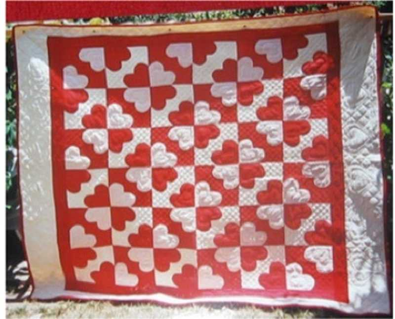 COURTESY PHOTOS - Hearts and Gizzards quilted in 1800s by the Cook family.