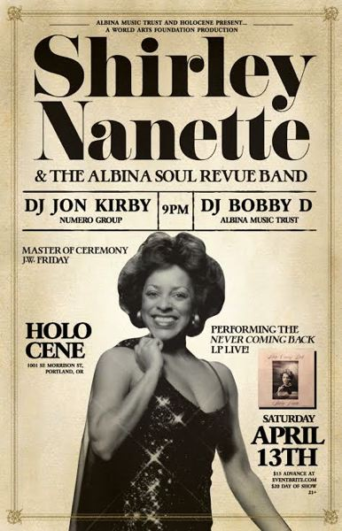 COURTESY PHOTO - Shirley Nanette goes back in time by performing 'Never Coming Back.'